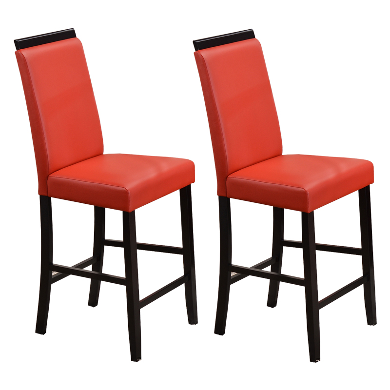 Arecibo Counter Height Parson Chair (Red) - Set of 2