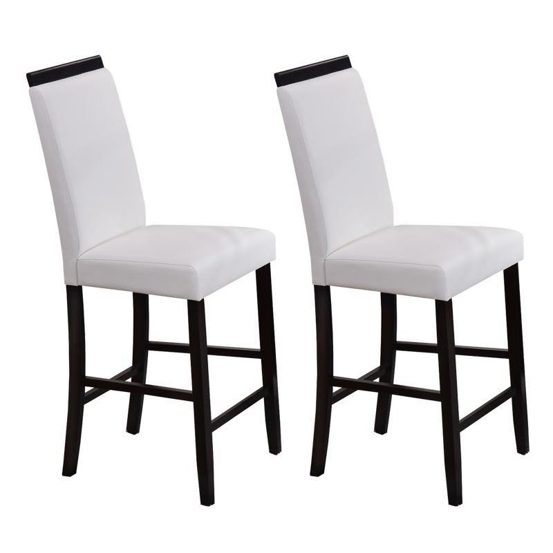 Arecibo Counter Height Parson Chair (White) - Set of 2