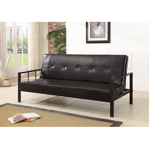 Edwin Leather Futon Sofa