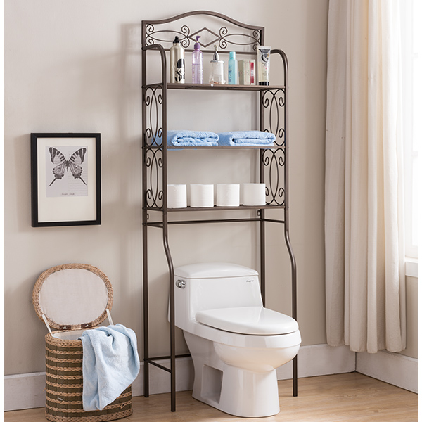 Duvet Over The Toilet Storage Rack