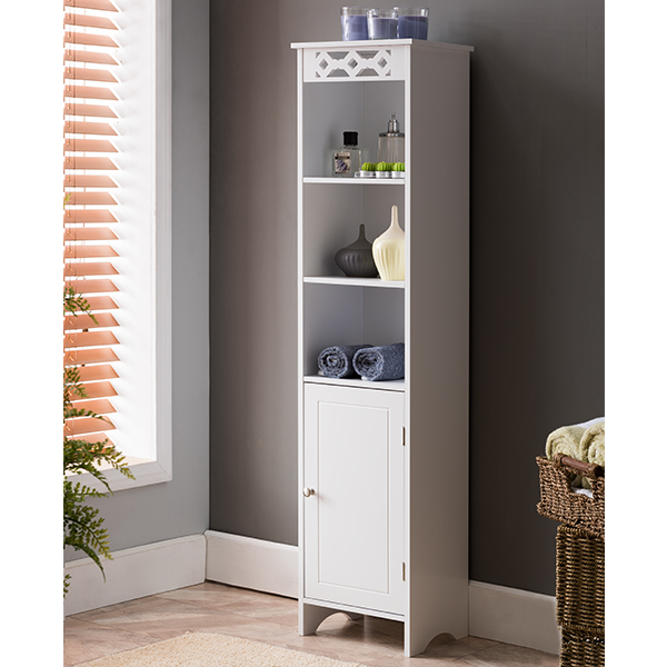 Lapointe Wood Tower Bathroom Cabinet