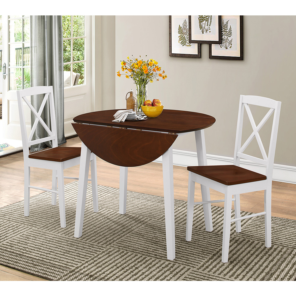 Andreas Dining Set (White/Cherry)