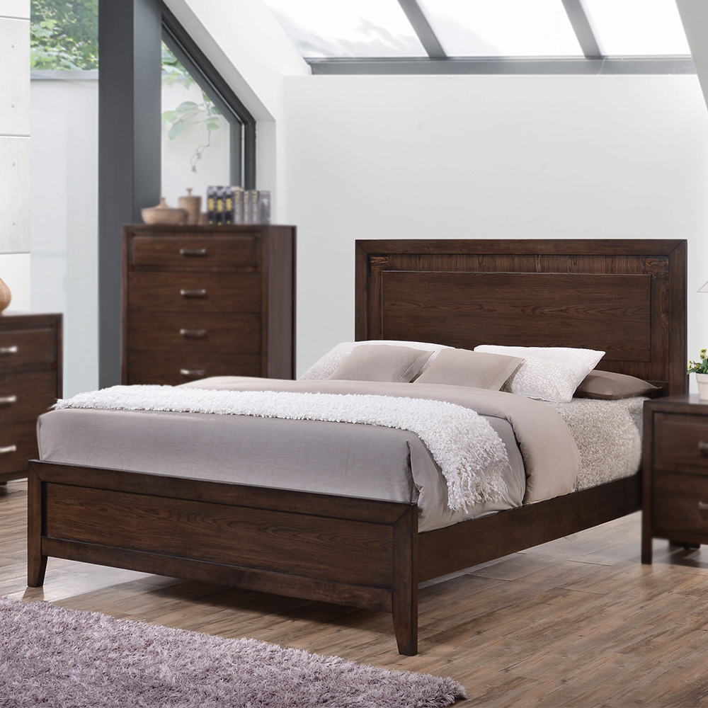 Brookwood Wood Panel Bed