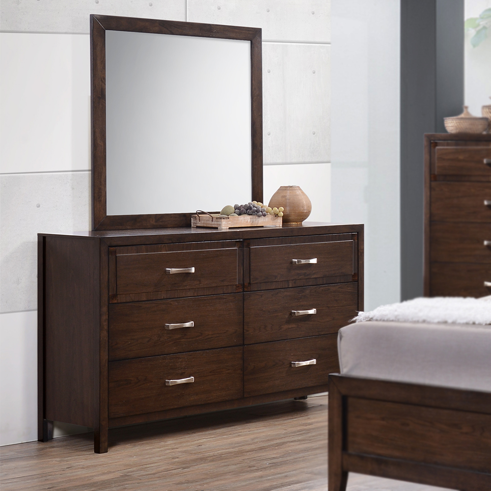 Brookwood Wood 6-Drawer Dresser / Optional Mirror