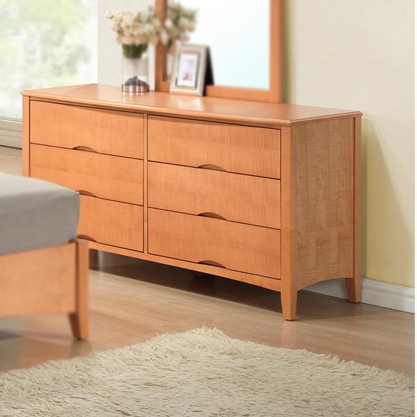 Wadsworth Wood 6-Drawer Dresser/Mirror (Natural)