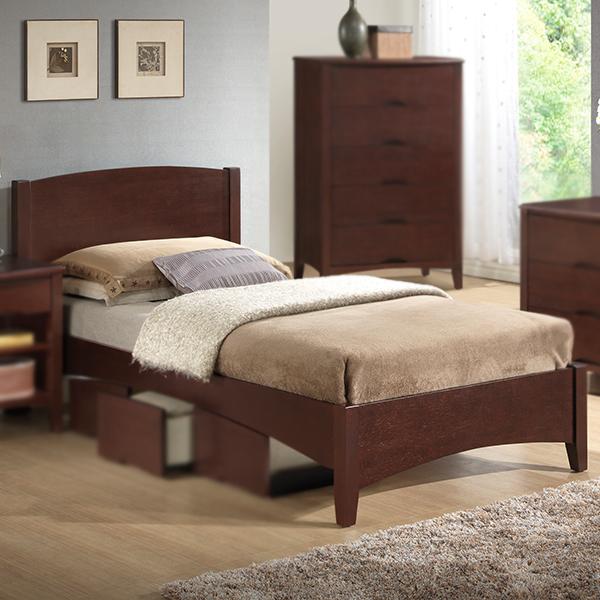 Wadsworth Wood Bed (Dark Bamboo)