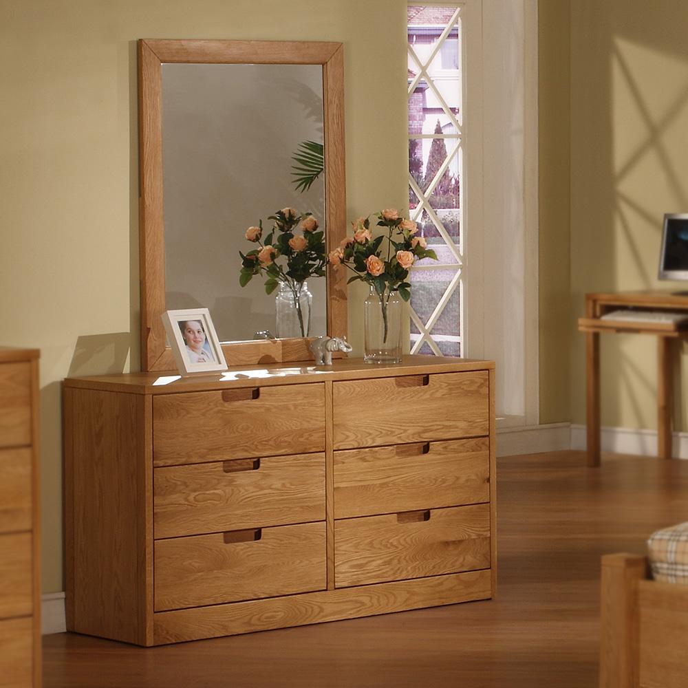 Walden Wood 6-Drawer Dresser/Mirror (Natural)
