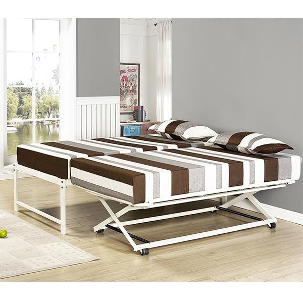 Armada Metal Hi-Riser Bed (White)