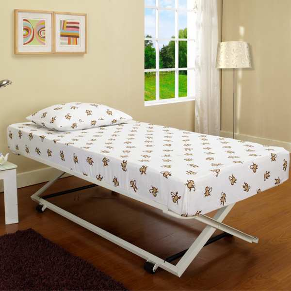 Armada Pop-Up Trundle Bed (White)