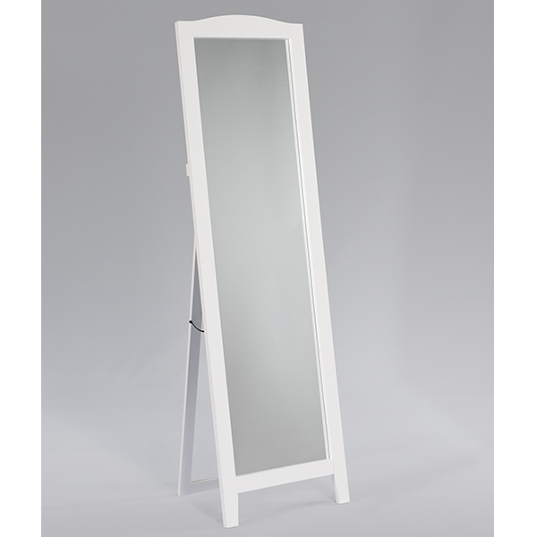 Frederick Wood Standing Mirror (White)