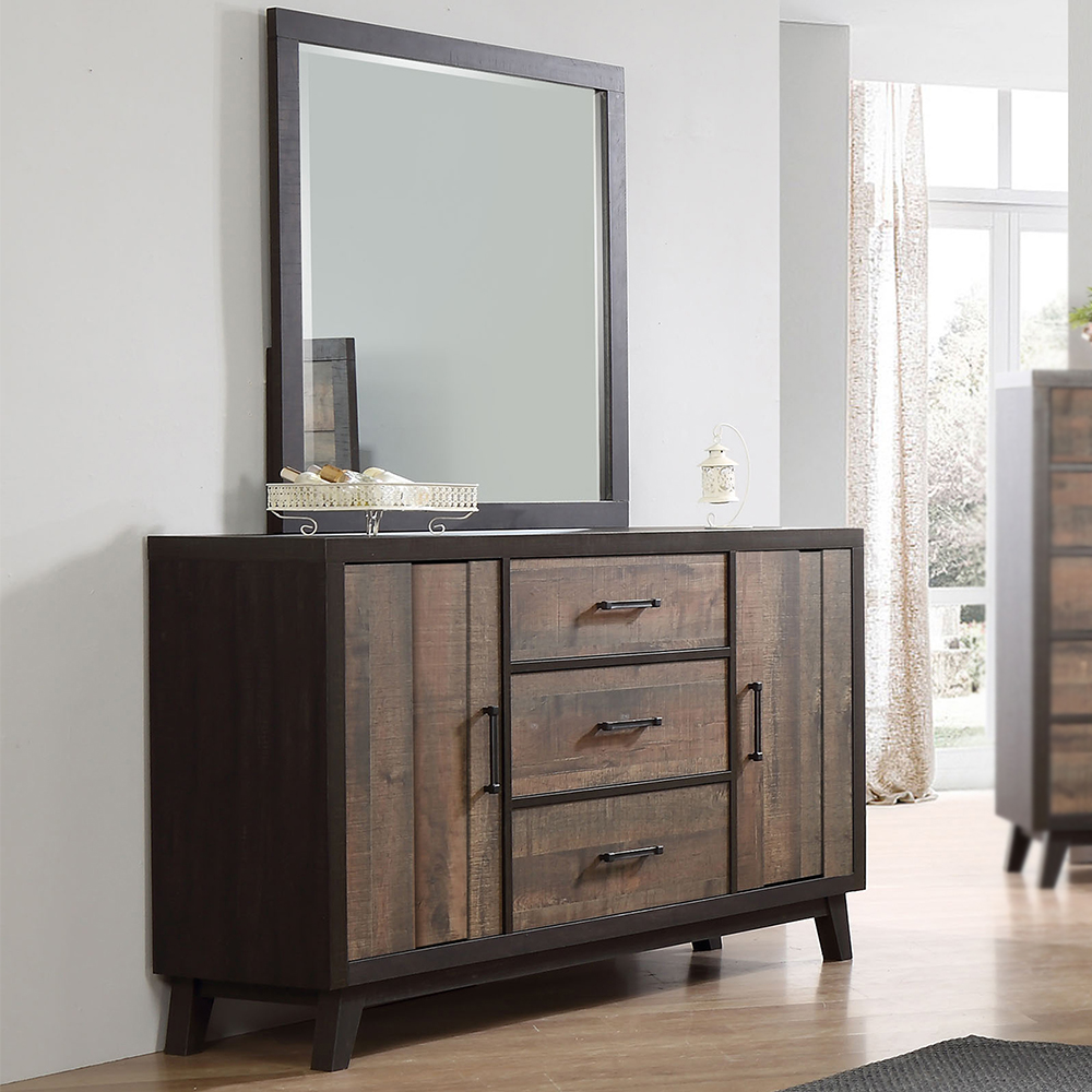 Phoenix 3-Drawer Dresser with 2 Cabinet Doors / Optional Mirror
