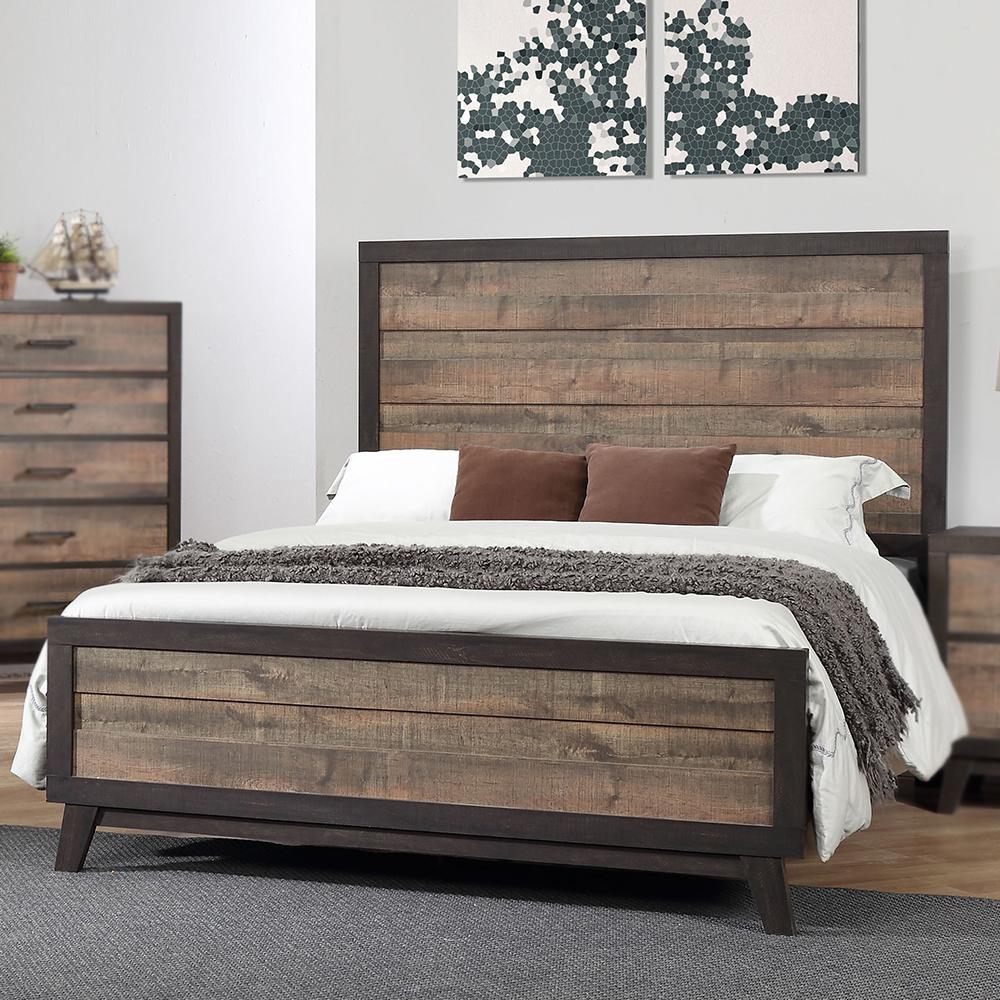 Phoenix Wood Panel Bed