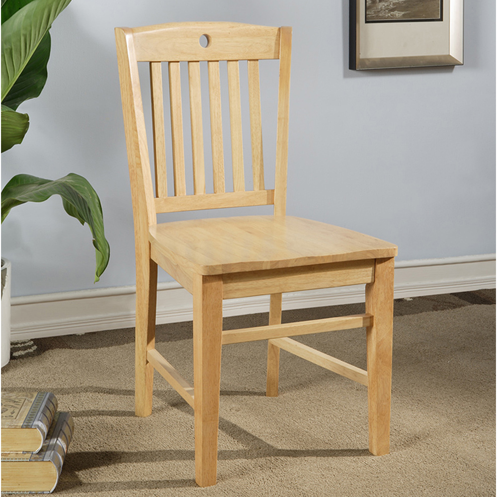 Apex Wood Side Chair (Natural Finish)