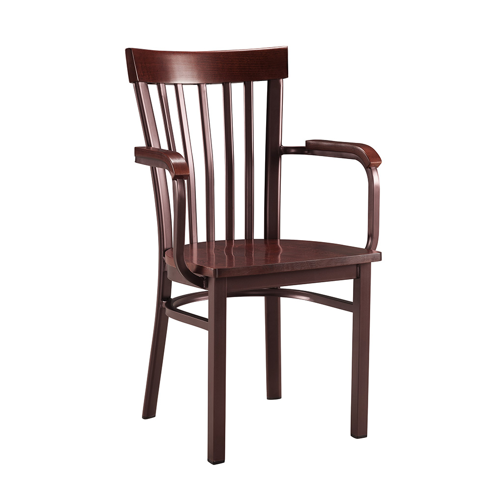 Corrigan Wood & Metal Chair W/ Arms