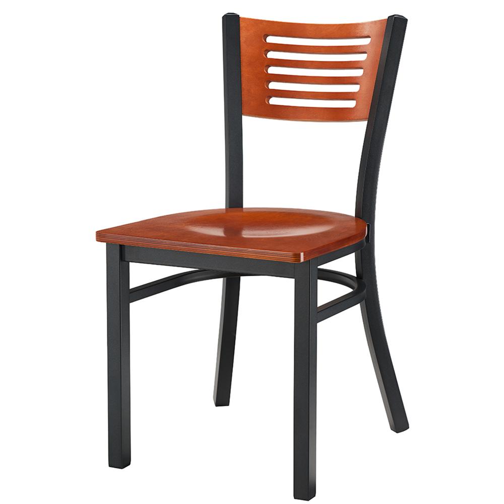 Arsenio Wood & Metal Chair (Cherry)