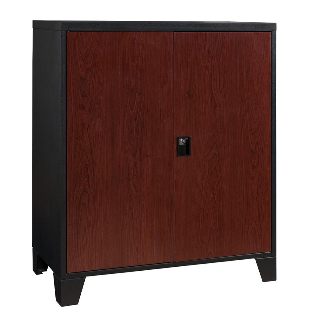 Magnetize Metal Double Door Cabinet (Cherry)