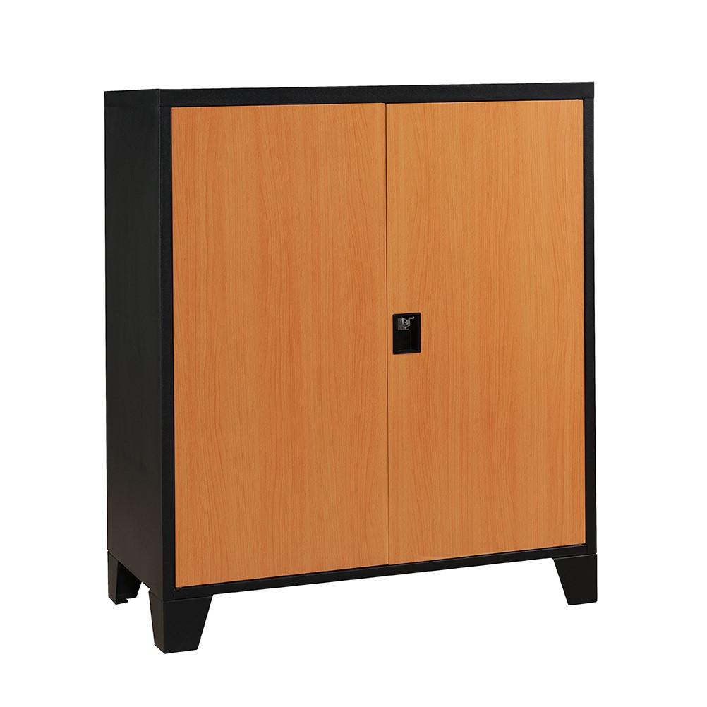 Magnetize Metal Double Door Cabinet (Natural)