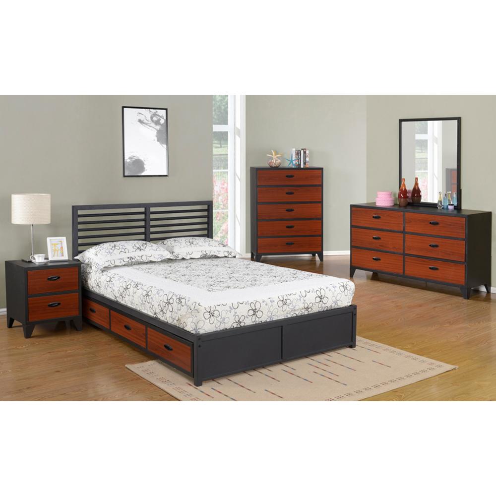 Maoz Steel Bedroom Collection (Cherry)