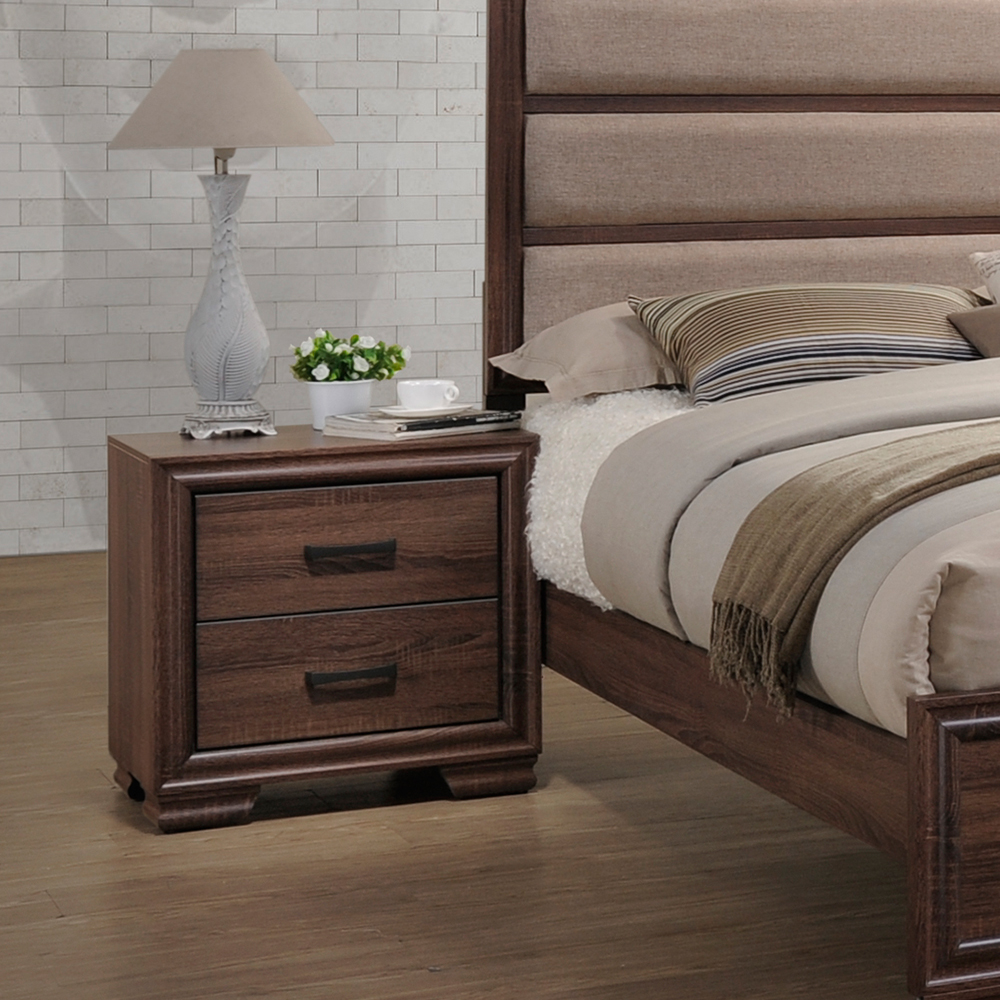 Cabernet Wood 2-Drawer Nightstand