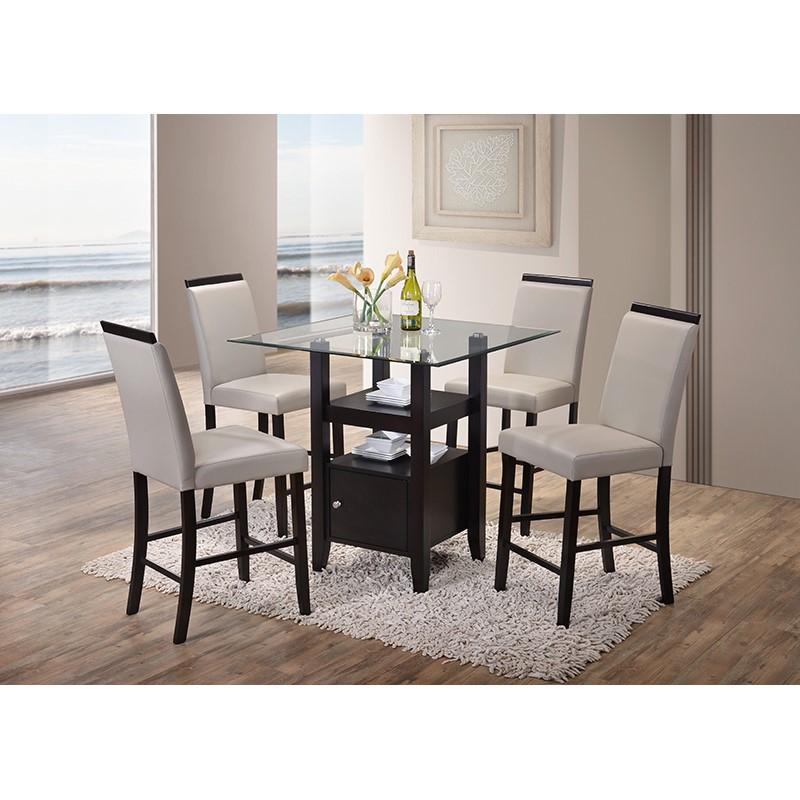 Arecibo Counter Height Dining Set (Grey)
