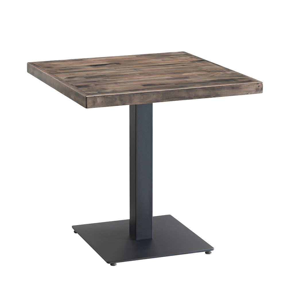 Carlton Solid Wood Square Table (Grey)