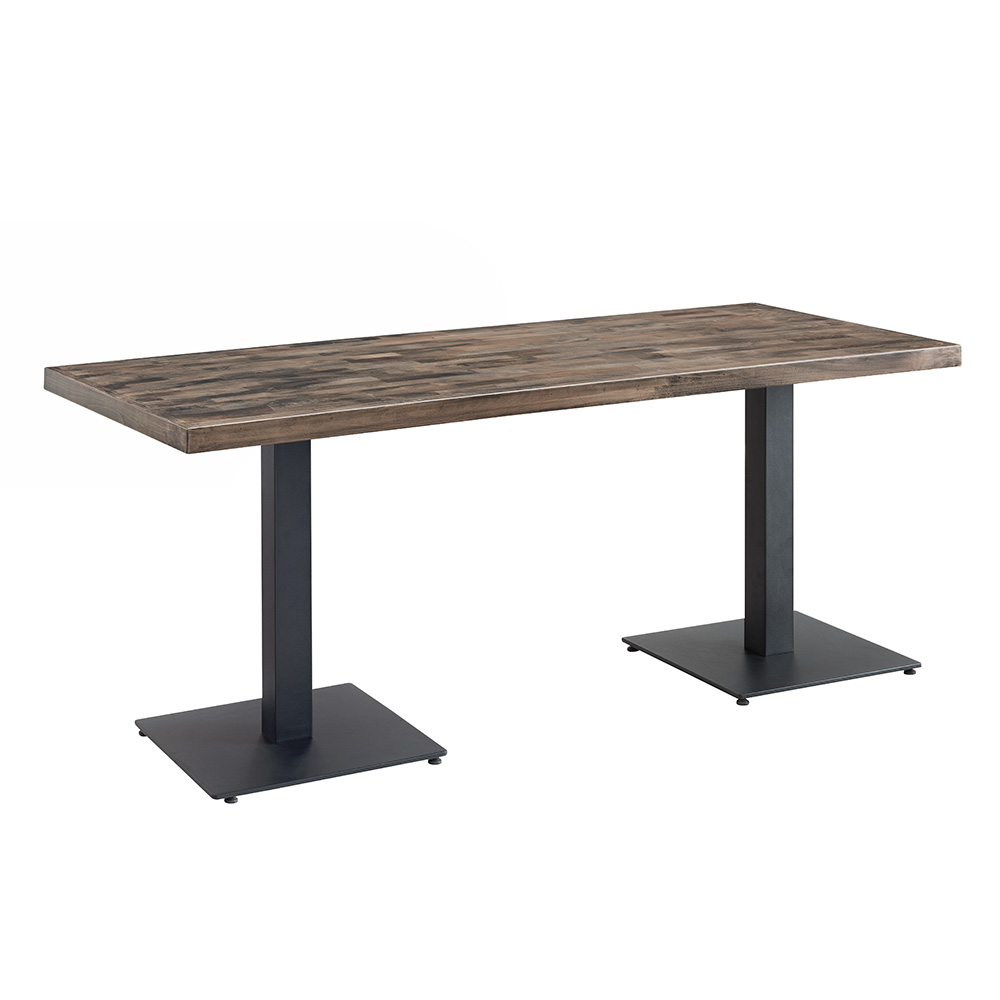 Carlton Rectangular Solid Wood Table (Grey)