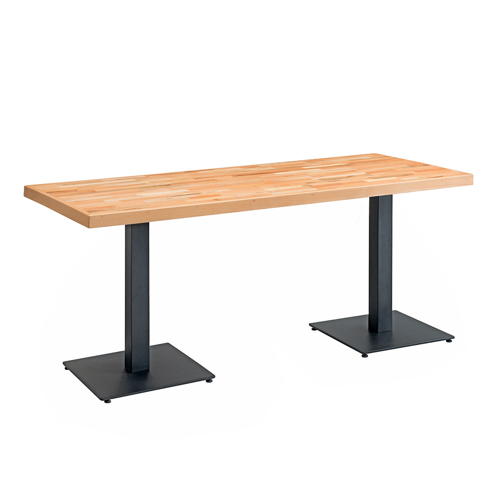 Carlton Solid Wood Rectangular Table (Natural)