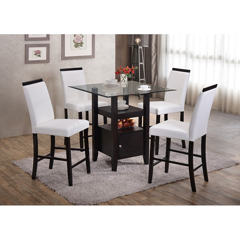 Arecibo Counter Height Dining Set (White)