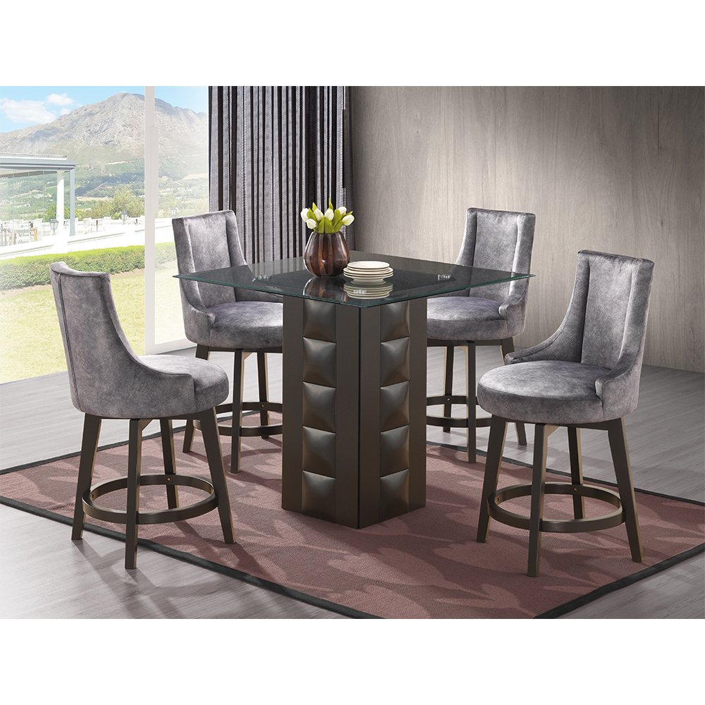 Adanel Counter-Height Dining Set (Black)