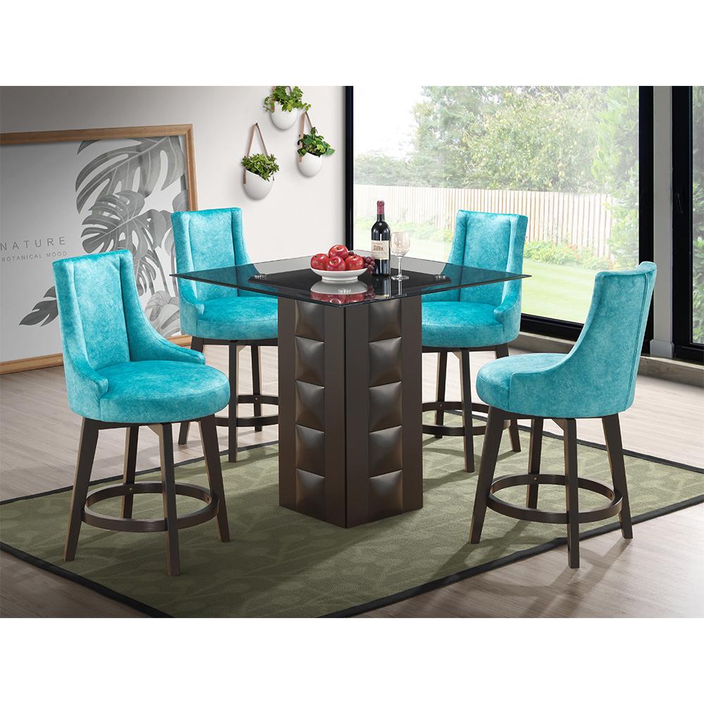 Adanel Counter-Height Dining Set (Green Blue)