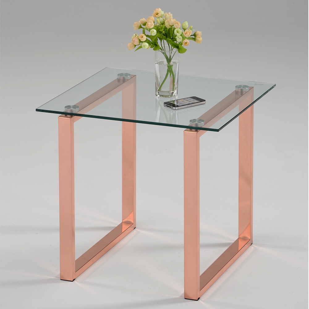 Curtis Glass Top End Table