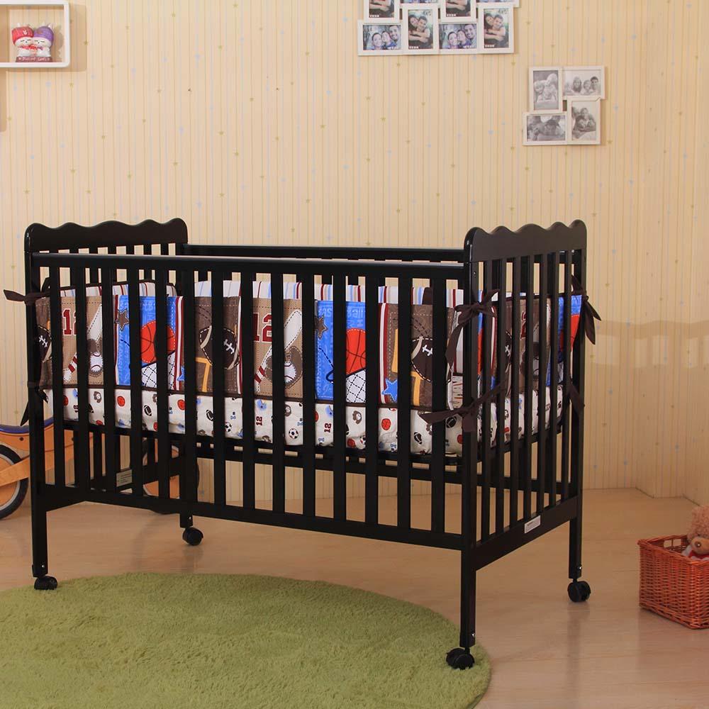 Barret Convertible Crib/Toddler Bed (Black)