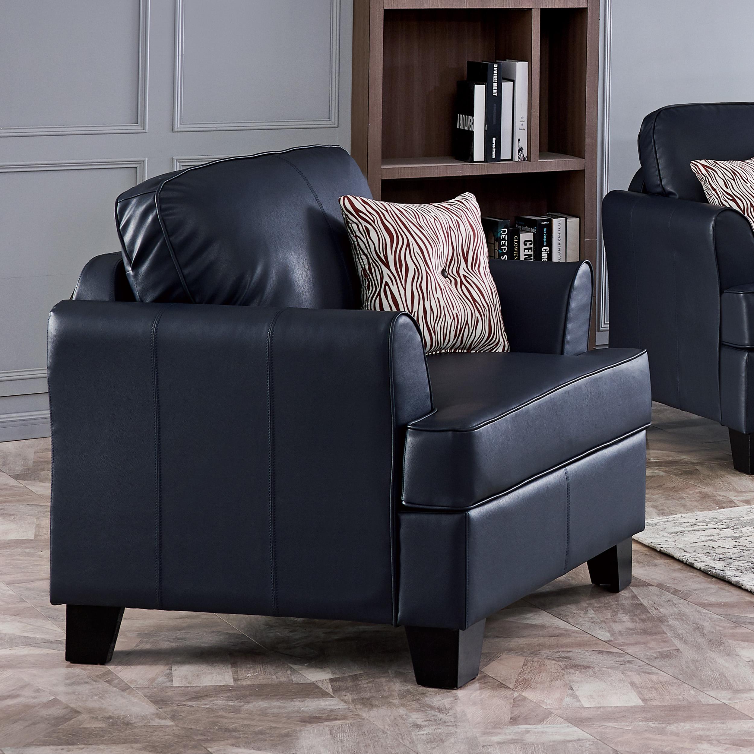 Alexandria Leather Chair (Blue)