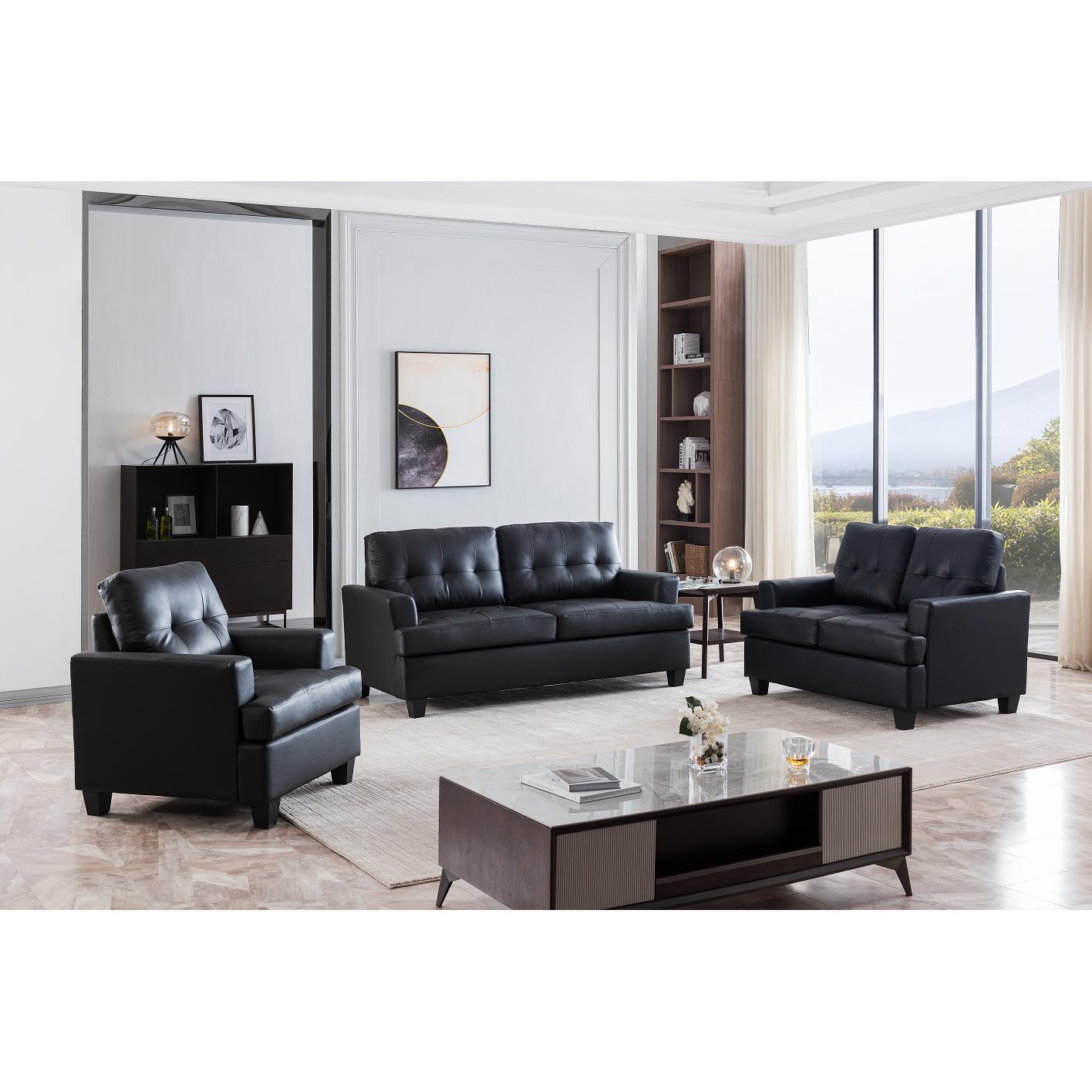 Hanson Living Room Set (Black)