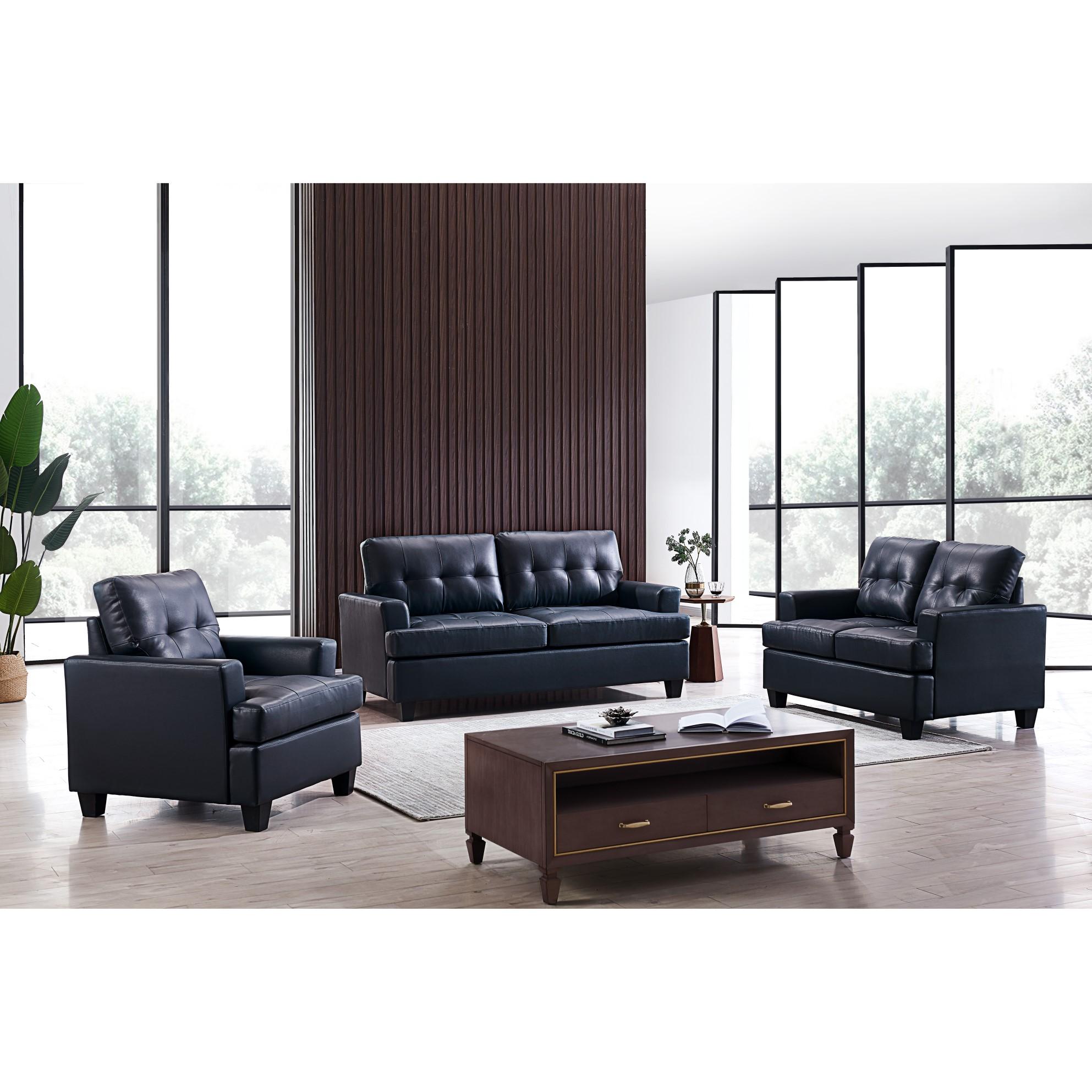 Hanson Living Room Set (Blue)
