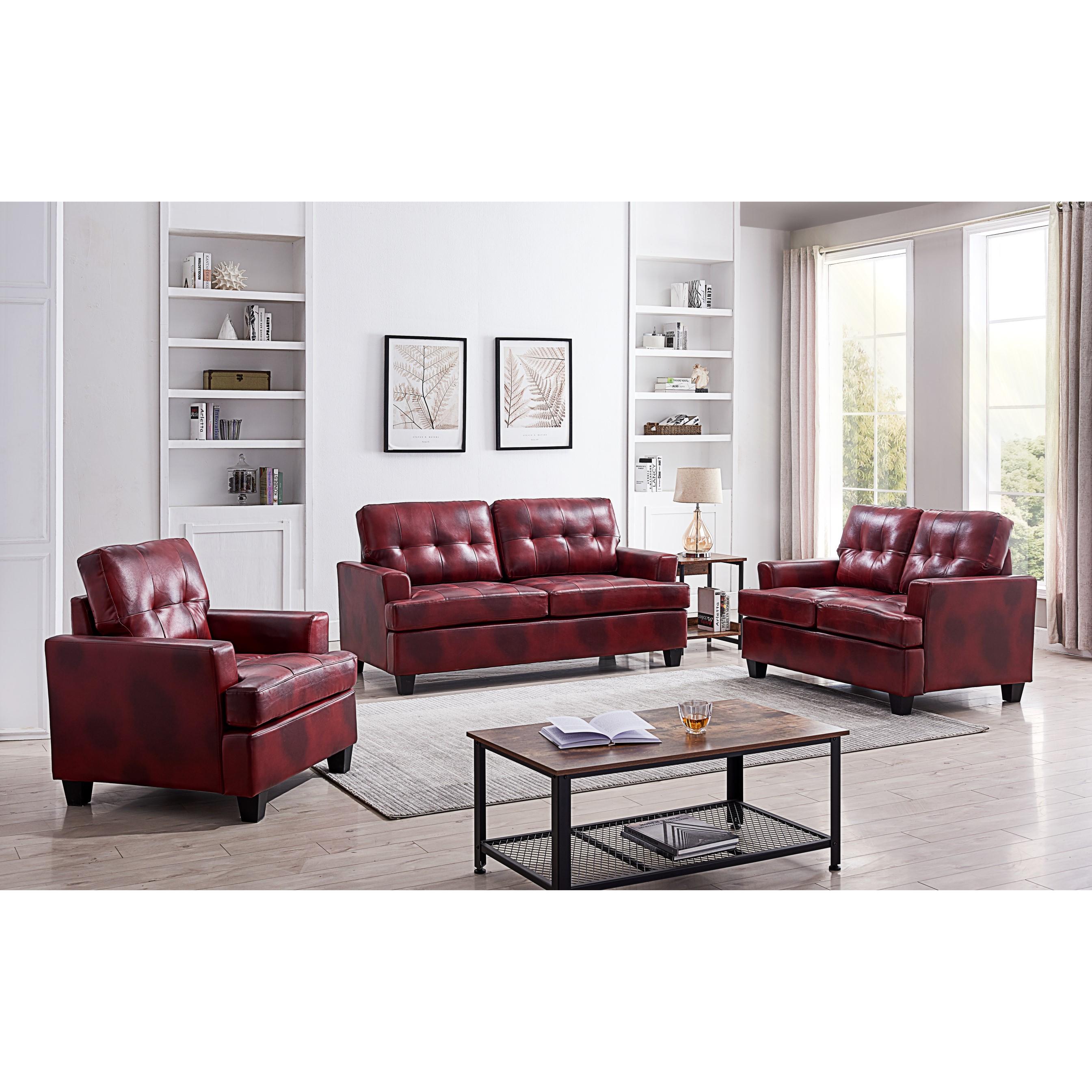 Hanson Living Room Set (Red)