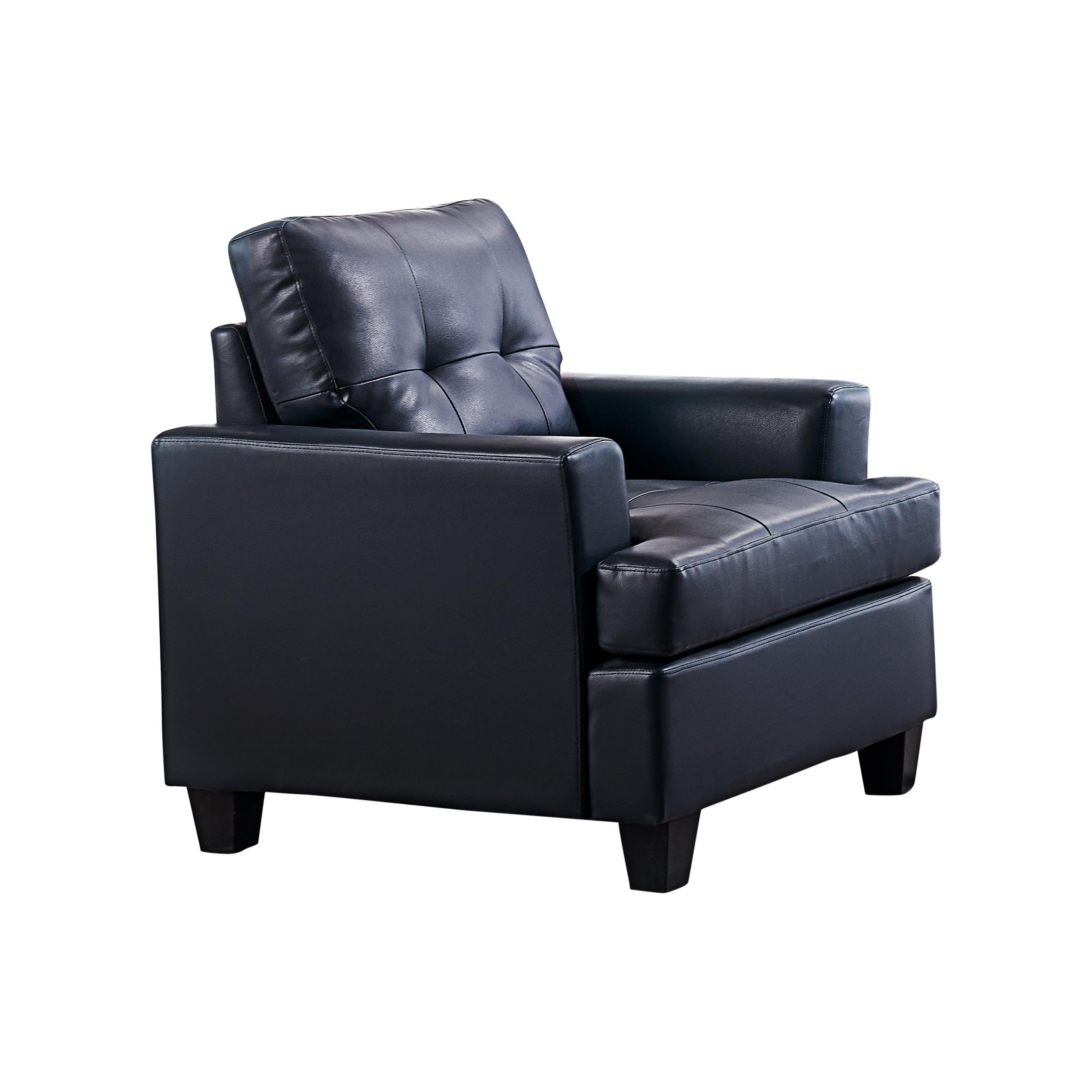 Hanson Vinyl Chair (Blue)