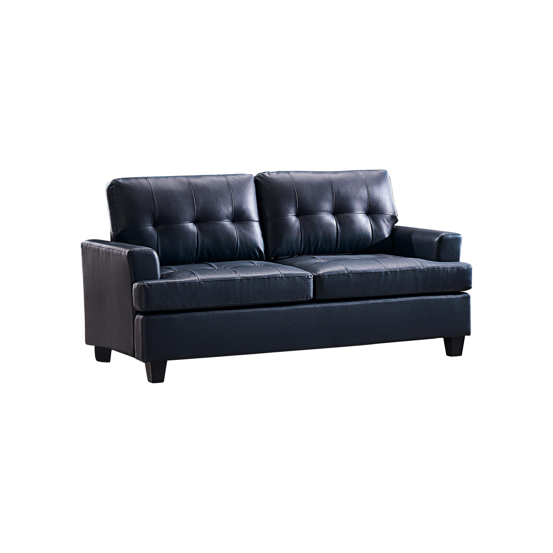 Hanson Vinyl Sofa (Blue)